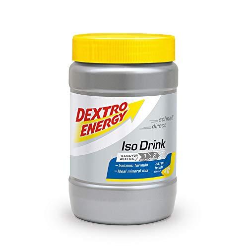 Iso Drink Pulver von Dextro Energy | Citrus Fresh | 440g Isotonisches Getränkepulver Zitrone | Für 11 Isotonische Getränke mit Elektrolyte