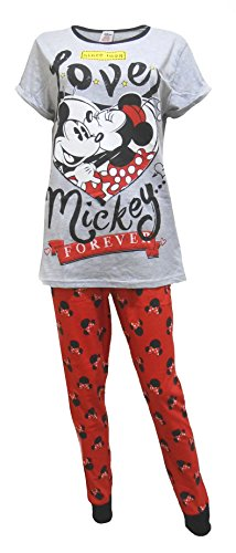 "Disney Minnie Mouse ""Love Mickey Forever"" de damas Pijamas L"