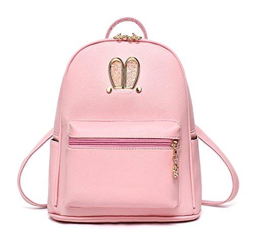 Keshi Pu neuer Stil Damen accessories hohe Qualität Einfache Tasche Schultertasche Freizeitrucksack Tasche Rucksäcke Pink