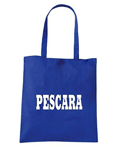 T-Shirtshock - Borsa Shopping WC0997 PESCARA ITALIA CITTA STEMMA LOGO Blu Royal
