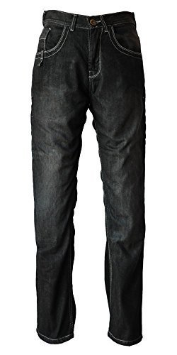 Evoqe denimax Hombre MOTO Vaqueros Motero Pantalones Aramida revestimiento CE Nivel 2 PROTECTOR - Negro, 40W X 34L
