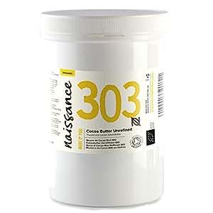 Naissance Kakaobutter unraffiniert BIO (Nr. 303) 500g - 100% rein und natürlich