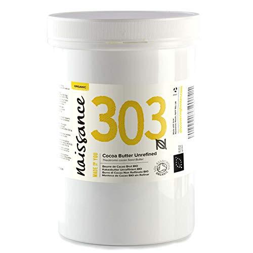 Naissance Kakaobutter unraffiniert BIO (Nr. 303) 500g - 100% rein und natürlich - Natürliche Kakaobutter