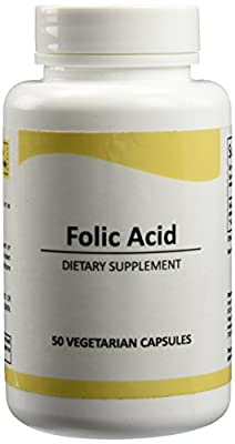 Pure Science Folic Acid 1000mcg - Daily Health Regimen & Prenatal Care for Women, Supports Cardiovascular Health & Cell-Regeneration - 100 Vegetarian Capsules from Pure Science
