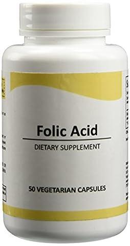 Pure Science Folsäure 1000 mcg täglich - Gesundheit & Therapie pränatale Versorgung für Frauen, Unterstützt Herz-Kreislauf-Gesundheit & Cell-Regeneration - 100 vegetarische Kapseln