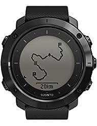 Suunto, Montre GPS Extérieure pour la Marche et la Randonnée, Jusqu'à 100h d'Autonomie, Imperméable, Traverse Saphire Black, Verre en Cristal, Noir, SS022291000