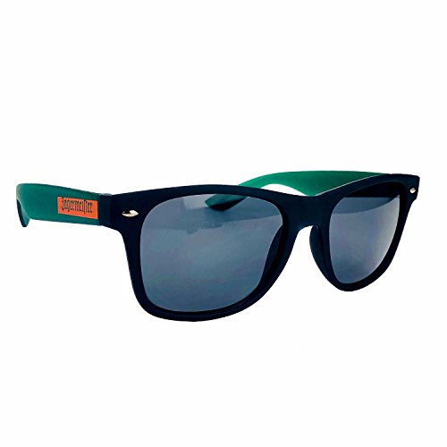 Jägermeister Sonnenbrille Nerd-, Party-, Wayfarer Brille in schwarz grün