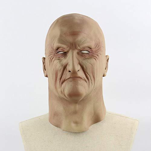 (Halloween gruselig schrecklich unheimlich realistisch grausig alte Mann Maske Cosplay Kostüme Partei Requisiten Maskerade Supplies - Hautfarbe)