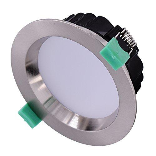 Halogen-downlight-kit (sishine 6Stück Chrom gebürstet LED Downlight Deckenleuchte Set, dimmbar Deckenleuchte Down Einbaustrahler, 18W 120mm Cut Out 16003000K Warm Weiß)