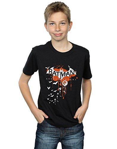 DC Comics niños Batman Arkham Knight Halloween Logo Art Camiseta 9-11 Years Negro