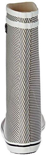 Aigle Malouine Print, Bottes de Pluie Femme MARINE/STRIPY