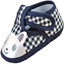 Fuxitoggo Zapatillas de Deporte de Lona Newborn Girl Boy Soft Sole para Cuna (3~