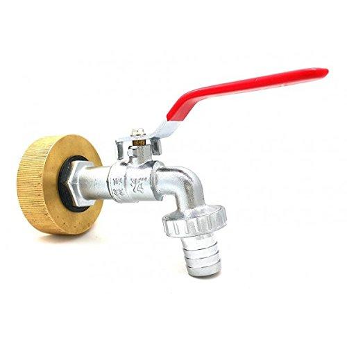 Multitanks - Raccord femelle S60x6 laiton - robinet laiton chromé 1 pouce