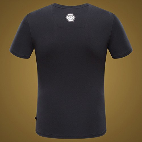 BOMOVO Herren T-Shirt Tall Tee Schwarz