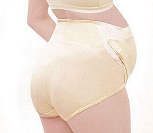 Aivtalk Culotte de Grossesse en Coton Confortable Respirant Taille Haute avec Bande Réglable Sous-vêtement Silp Brief de Maternité pour Protéger le Ventre 3 Couleur Optique L-XXL Beige