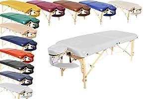 Promafit mobile Profi Massageliege London - klappbar - viele Farben - bequeme Polsterung + Tragetasche (weiß)
