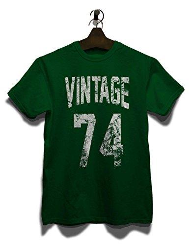 Vintage 1974 T-Shirt Dunkel Grün