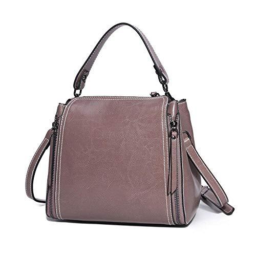 Circlefly Schultertasche aus Leder Frau Tasche koreanische Version Stil Öl Wachs Kuh Leder Tasche Fashion Shopper Umhängetaschen