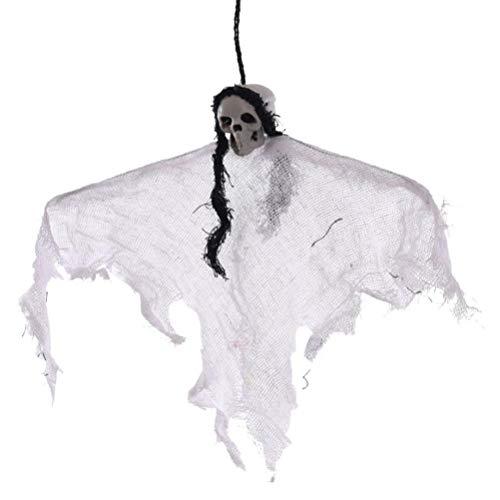 nging Ghost Dekoration Horror Hängen Requisiten für Halloween Party Im Freien Innenhof Party BarSupplies (Weiß) ()