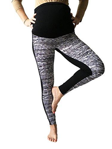 Mia maternity Damen Leggings chequered print Medium zigzag grey