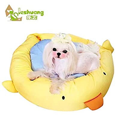 ZMMA ZMMARabbit-duck Pet Nest Pet Nest Round Cartoon Rabbit-duck Small Dog Soft by ZMMA