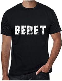 ba1a5492ecb26 One in the City Beret Hombre Camiseta Negro Regalo de Cumpleaños 00553
