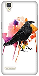 The Racoon Grip printed designer hard back mobile phone case cover for Oppo F1. (The Crow&#)