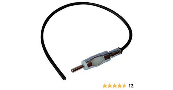 Aerzetix C12001 Adapter Anschlussstecker Din Autoradio Antennenstecker Stecker 20cm Für Auto Vorverdrahtet Auto
