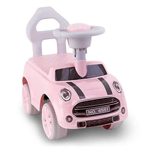 Hejok Laufrad Ab 1 Jahr, Balance Fahrrad Kinder Baby Walker 1-3 Jahre Alt Rutsche Auto Twist Auto Mit Musik Anti-Rutsch-Anti-Rollover-Walker, Pink