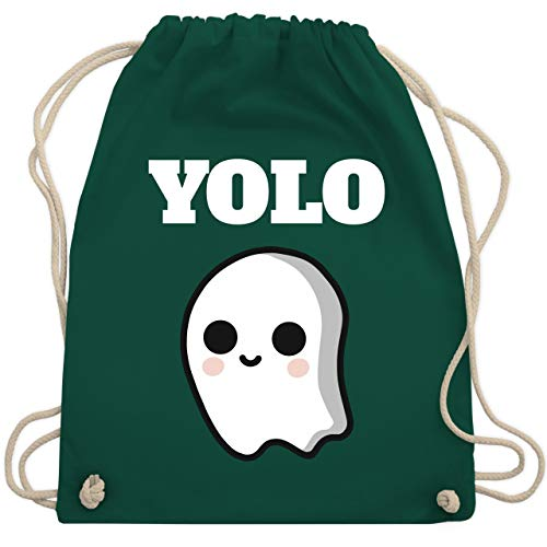 Halloween - Geist YOLO Motiv - Unisize - Dunkelgrün - WM110 - Turnbeutel & Gym Bag
