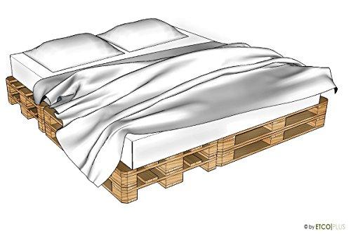 ETCO-PLUS Palettenmöbel -Vancouver Doppelbett - Bausatz