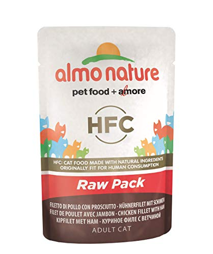 almo nature Cat Food Classic Raw Confezione Sacchetto Filetto di Pollo con prosciutto