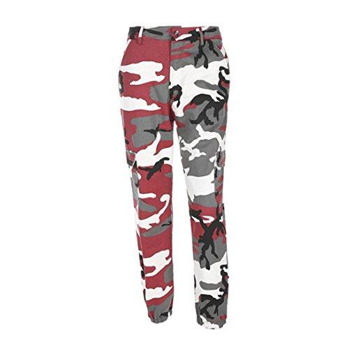 Pantalone,LILICAT® Pantalones largos flojos 2018 Fashion Camo Cargo Pantalones casuales de camuflaje al aire libre