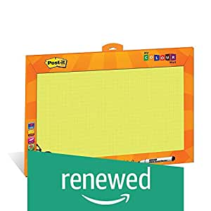 (Renewed) Post - it My Color Wall (Yellow) - Printed Whiteboard/Writing board for kids
