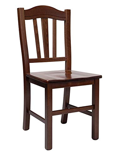 Ordine minimo 2 pezzi sedia silvana in legno massello di faggio, altissima qualita', robuste 8kg. design totò piccinni (noce)