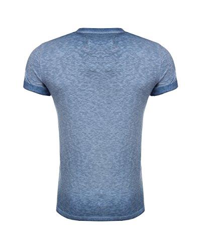 Superdry Herren T-Shirt Orange Label Low Roller Tee Blau
