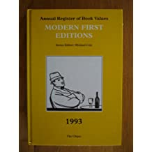 Modern First Editions 1993 (Annual Register of Book Values)