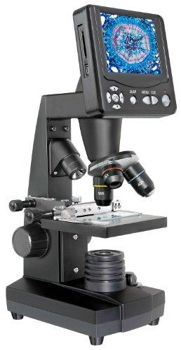 """Bresser Durchlicht und Auflicht LCD-Mikroskop 50x-500x, (2000x digital),5 Megapixel Sensor und 8.9cm (3.5\""""), inklusive Kreuztisch zur Objektverstellung, SD Karten Anschluss und umfangreichem Zubehör"""
