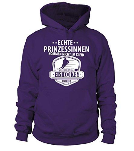 TEEZILY Echte Prinzessinnen kommen Nicht im Kleid Eishockey Tshirt/Sprüche/Hoodie/Trikot Männer Frauen Kapuzenpullover