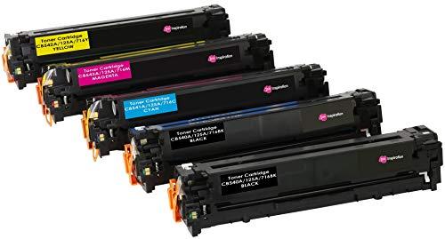 5er Set INK INSPIRATION® Premium Toner für HP Laserjet CM1312 CM1312nf CM1312nfi CP1215 CP1217 CP1514n CP1515n CP1518ni | kompatibel zu HP 125A CB540A 2.200 Seiten CB541A CB542A CB543A 1.400 Seiten -