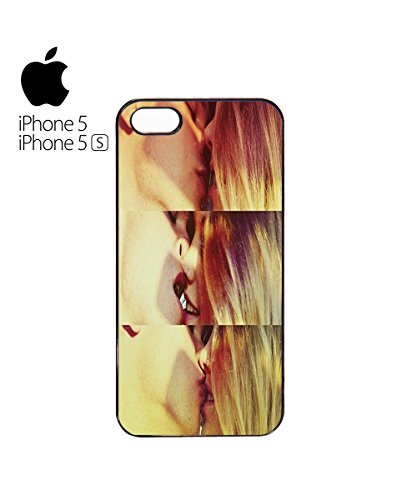 Sexy Kiss Lesbian Straight Mobile Phone Case Back Cover Coque Housse Etui Noir Blanc pour for iPhone 6 White Blanc