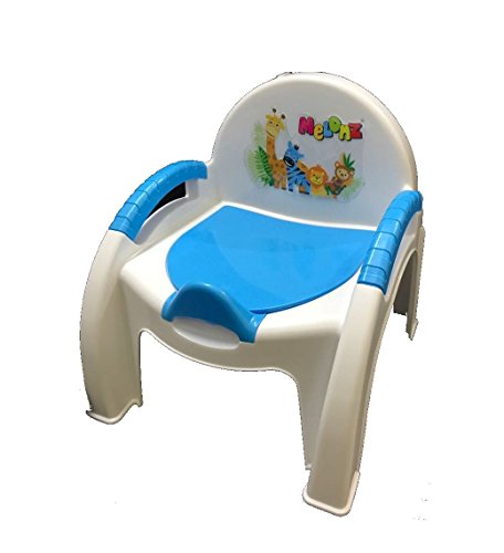 Melonz Baby Potty Seat Cum Chair 2 in 1 (Colour Available Blue,Red,Purple,Green,Orange,Yellow)
