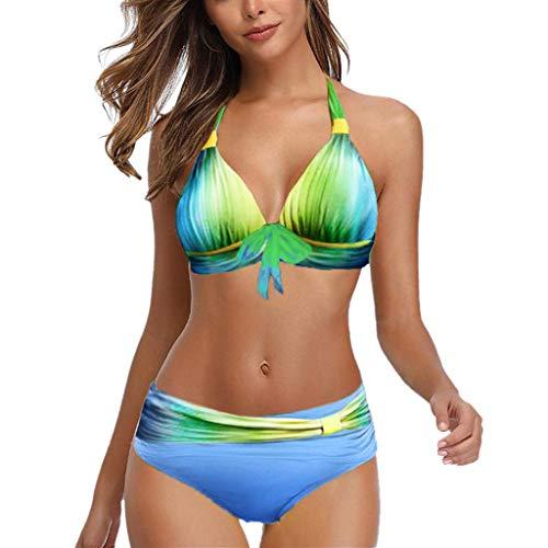 LANSKIRT Bañadores Mujer 2020 Traje de Baño Tie-Dye con Cordones Moda Ropa de Playa Bañador Elegante...