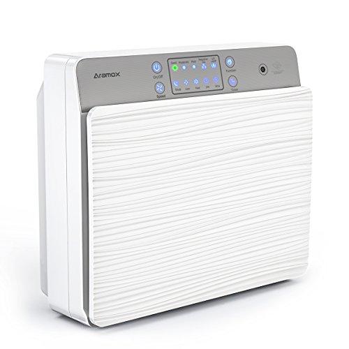 Luftreiniger,Luft-Ionisierer mit HEPA Ionen-Funktion Filter und UV sterilization Mit kabelloser Fernbedienung perfekt für Allergiker, Hausstaubmilben-Allergie,Raucher auch bei,Weiß