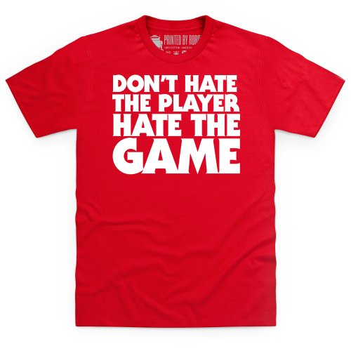Hate The Game T-shirt, Uomo Rosso