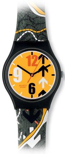 Swatch GB233 - Orologio da polso da donna, cinturino in pelle multicolore