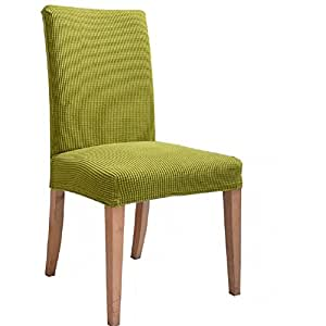 Stretch Dining Room Chair Slipcovers Pack Of 1 Green