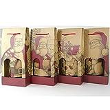Aurora Store.it 12 Scatole Porta 2 Bottiglie Natale Busta in Cartone Ondulato con Laccetto per Vino, Olio, Champagne, Liquori Astuccio Singolo Decoro Natalizio 18x9x h. 41 cm