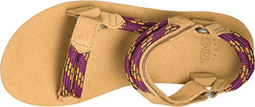 Teva Original Universal Rope Women's Wandern Sandelholze - SS17 Beige (dark purple)