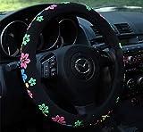 Coprivolante auto carino 2016 ricamo auto femminile (fiori nuovi)